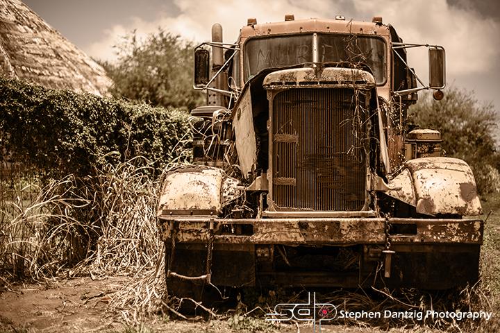 Truck and silo sepia 10 72