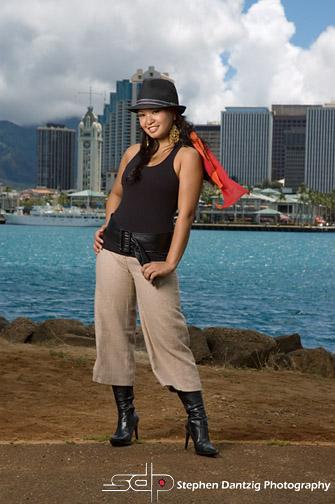 Teresa Aloha fl scarf blowing 10